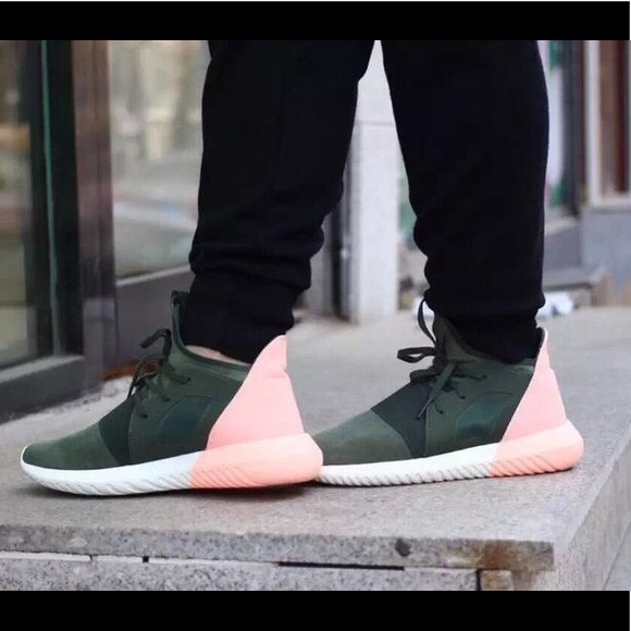 tubular adidas green and pink